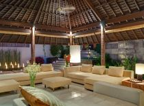 Villa Mata Air, Living Room at Night