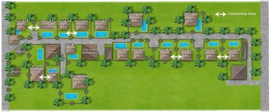 Villa Kubu Deluxe One Bedroom Floor Plan